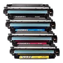 HP 504A remanufactured/compatible toner cartridges - 4-pack