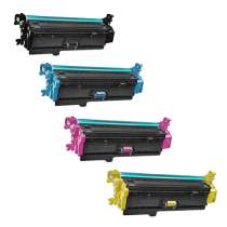 HP 508X remanufactured/compatible toner cartridges - 4-pack
