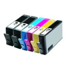 Multipack HP 564XL - 6 remanufactured inkjet cartridges - 2 Black and 1 each Photo Black, Cyan, Magenta, Yellow