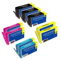 Multipack HP 564XL - 9 remanufactured inkjet cartridges - 3 Black and 2 each Cyan, Magenta, Yellow