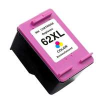 HP 62XL Color (HP C2P07AN) High Capacity Color ink remanufactured inkjet cartridge