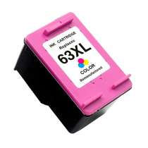 HP 63XL (F6U63AN) High Capacity Color ink remanufactured inkjet cartridge