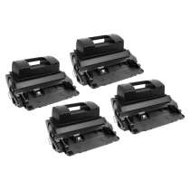 HP 81X High Yield Black - CF281X remanufactured/compatible toner cartridges - 4-pack