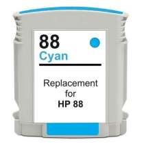 HP 88XL Cyan (C9391AN) High Capacity Cyan ink remanufactured inkjet cartridge