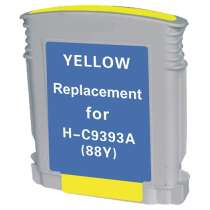 HP 88XL Yellow (C9393AN) High Capacity Yellow ink remanufactured inkjet cartridge