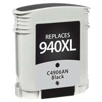 HP 940XL Black (HP C4906AN) High Capacity Black ink remanufactured inkjet cartridge
