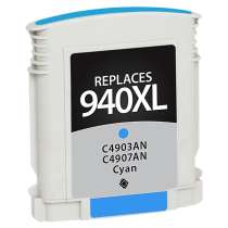 HP 940XL Cyan (HP C4907AN) High Capacity Cyan ink remanufactured inkjet cartridge