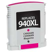 HP 940XL Magenta (HP C4908AN) High Capacity Magenta ink remanufactured inkjet cartridge