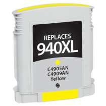 HP 940XL Yellow (HP C4909AN) High Capacity Yellow ink remanufactured inkjet cartridge