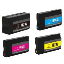 Multipack HP 952XL - 4 remanufactured inkjet cartridges - 1 each Black, Cyan, Magenta, Yellow