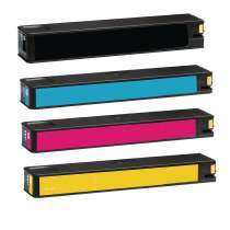 Multipack HP 972A - 4 remanufactured inkjet cartridges - 1 each Black, Cyan, Magenta, Yellow