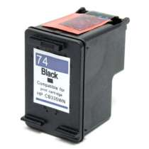 HP 74 (HP CB335WN) Black ink remanufactured inkjet cartridge
