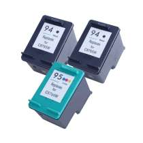 Multipack HP 94 / 95 - 3 remanufactured inkjet cartridges - 2 Black and 1 Color