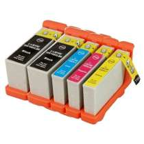 Multipack Lexmark #100XL / #100XLA - 5 compatible inkjet cartridges - 2 Black and 1 each Cyan, Magenta, Yellow