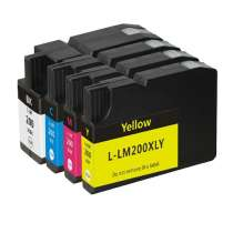 Multipack Lexmark #200XL / #200XLA - 4 compatible inkjet cartridges - 1 each Black, Cyan, Magenta, Yellow