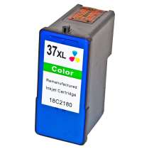 Lexmark 18C2180 (#37XL) High Capacity Color ink remanufactured inkjet cartridge