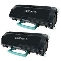 Lexmark E260A11A High Yield remanufactured toner cartridges - 2-pack