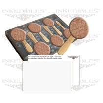 Inkedibles 530-017 Magnetic Chocolate Mold and 50 Chocolate Transfer Sheets - 11x7 inch