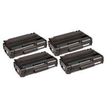 Ricoh 406465, Type SP3400HA Black High Yield compatible toner cartridges - 4 pack