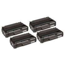 Ricoh 406628, Type 6330A Black compatible toner cartridges - 4 pack