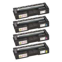 Ricoh 407539 / 407540 / 407541 / 407542 / Type C250A compatible toner cartridges - 4-pack