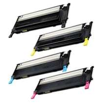Compatible for Samsung CLT-K407S / CLT-C407S / CLT-M407S / CLT-Y407S toner cartridges - 4-pack
