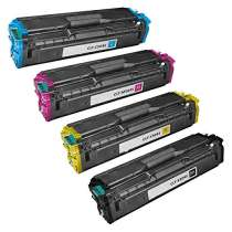 Compatible for Samsung CLT-K504S, CLT-C504S, CLT-M504S, CLT-Y504S toner cartridges - 4-pack