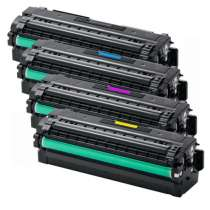 Compatible for Samsung CLT-K505L, CLT-C505L, CLT-M505L, CLT-Y505L High Yield toner cartridges - 4-pack