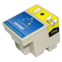 Epson T067 Color ink remanufactured inkjet cartridge