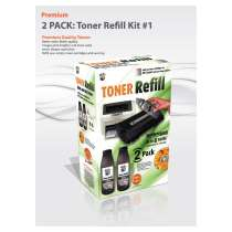 Bulk Toner Refill #1 for most HP, Apple, Canon and more - 2 pack