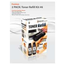 Bulk Toner Refill #6 for most Samsung, Lexmark and more - 2 pack