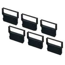 Compatible Verifone CRM-0023BK Black Ribbon for Verifone 900 / 900R / 950R - 6 Packs